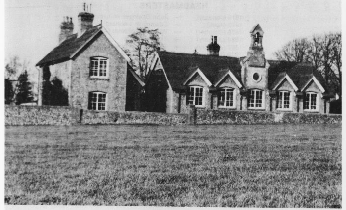 A historical photo of a local school