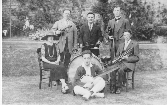 A historical photo of local musicians