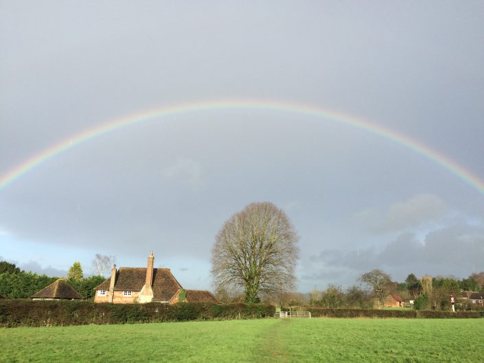 A rainbow over Charing