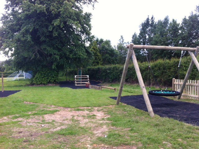 Local play park with swing