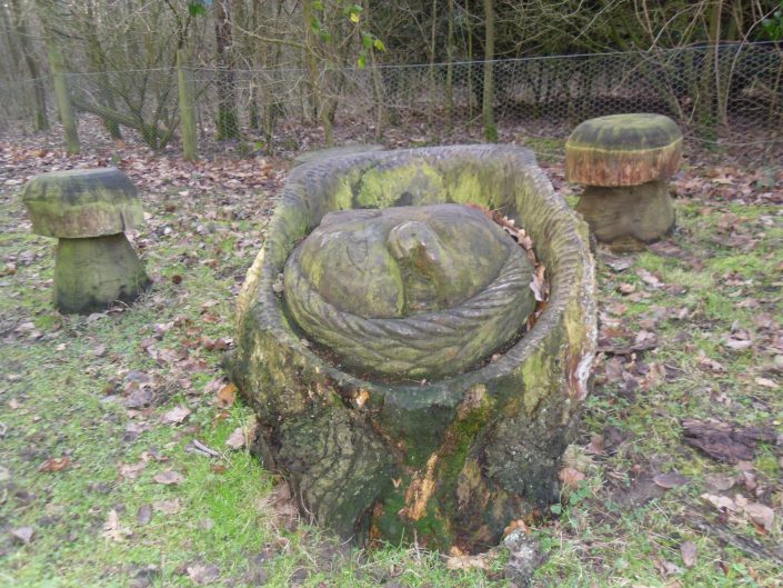 Tree carvings in Hurst wood