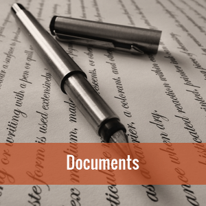 An ink pen and paper. Click on image to view local documents.