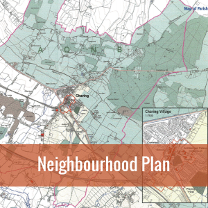 Click this map of Charing village to visit the Neighbourhood Plan section of this website